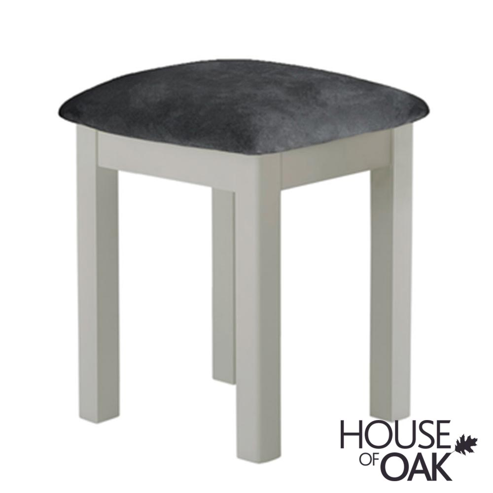 Portman Painted Bedroom Stool in Stone Grey