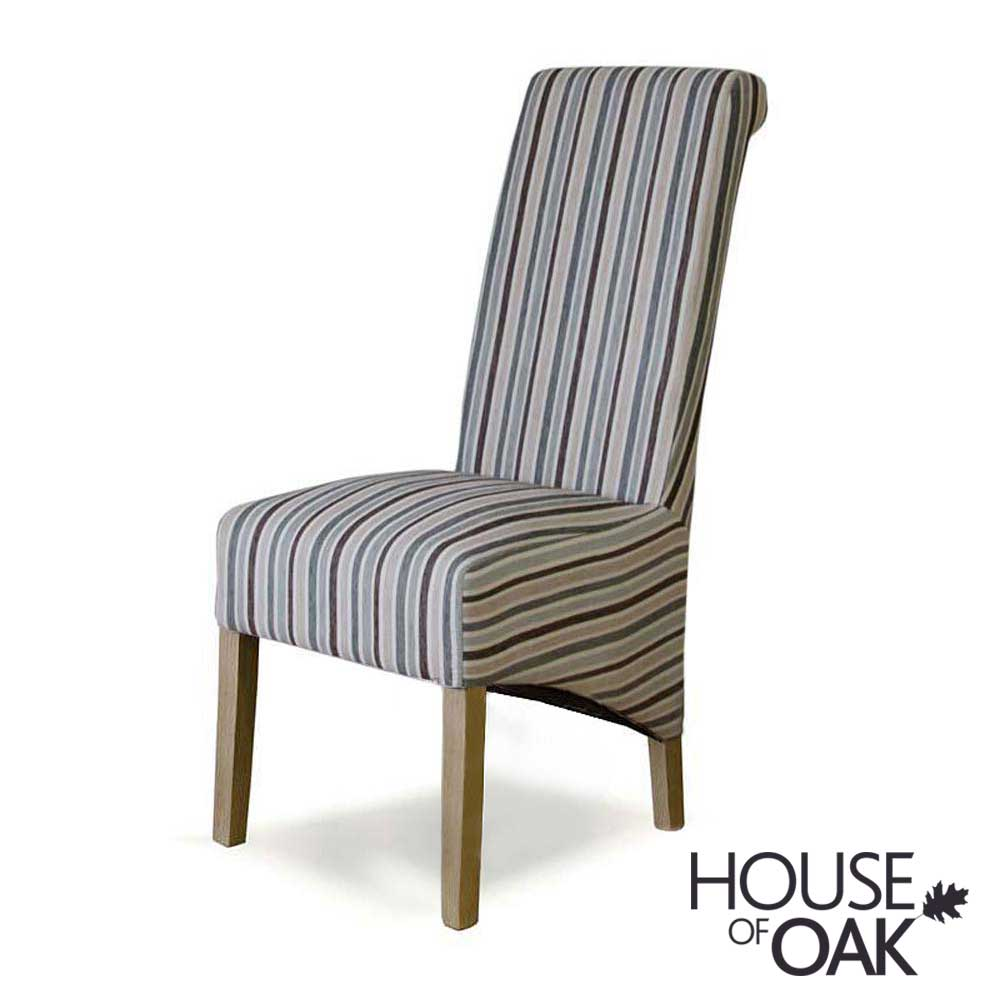 Richmond Chair in Fabric Duck Egg Stripe