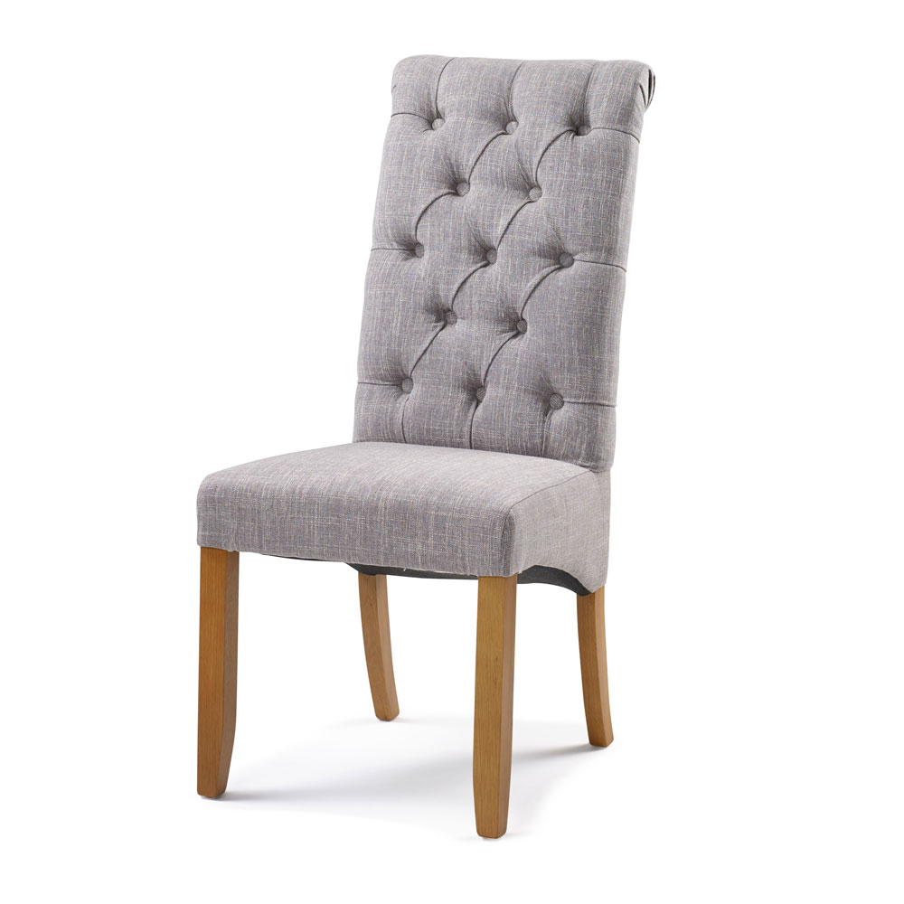 Bedroom Upholstery Straight Top Chair in Grey