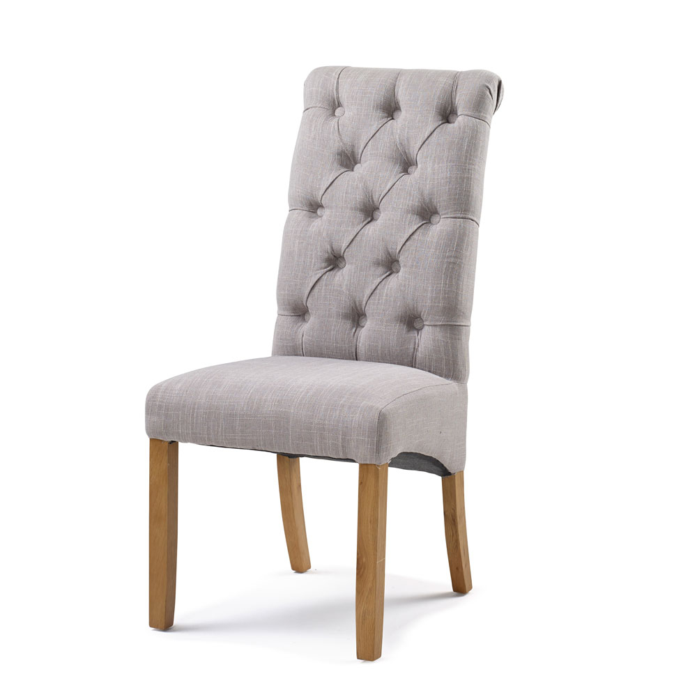 Bedroom Upholstery Straight Top Chair in Putty
