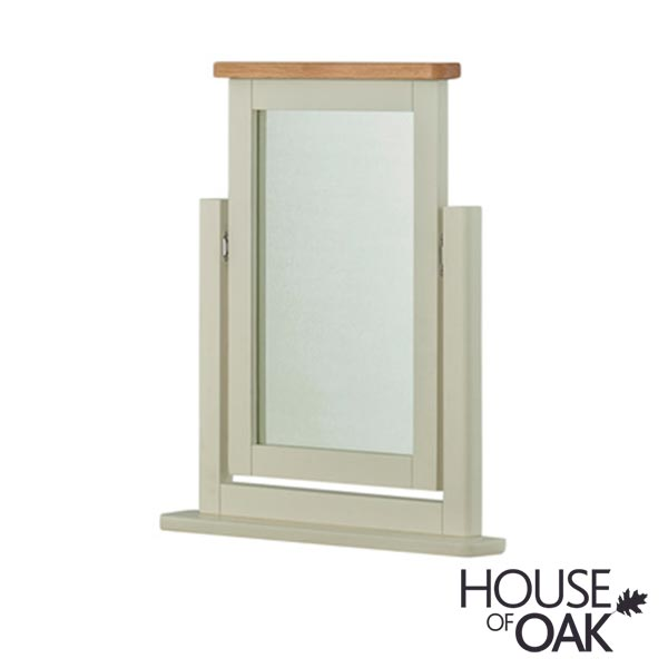 Portman Painted Swivel Mirror in Stone Grey