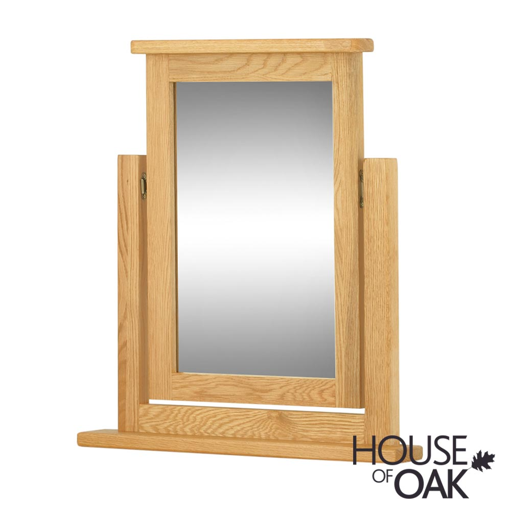 Portman Swivel Mirror in Oak