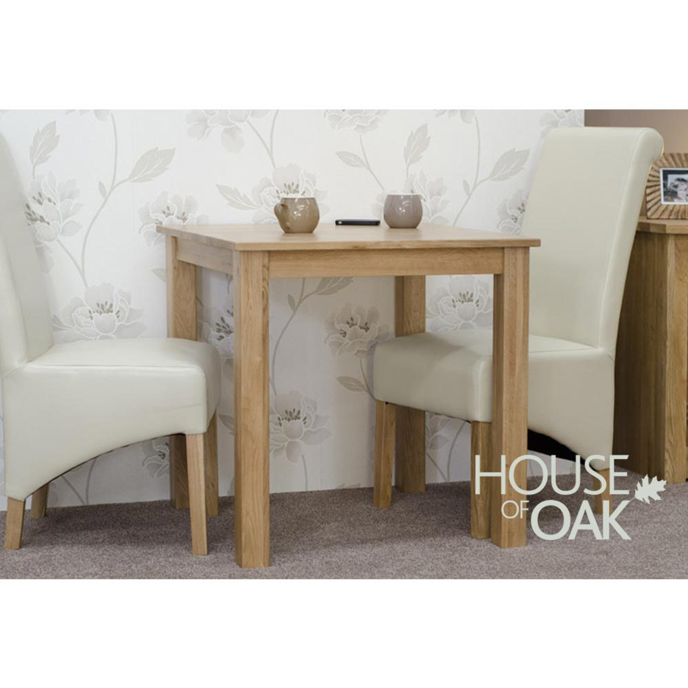 Opus Oak 77cm x 77cm Solid Oak Table