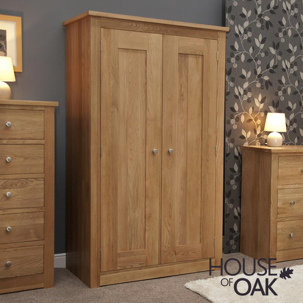 Torino Solid Oak All Hanging Wardrobe