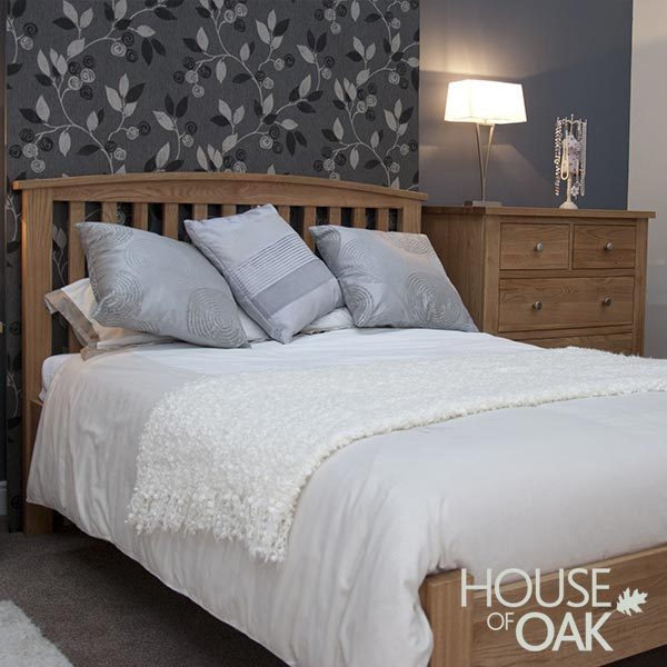 Opus Solid Oak 3FT Single Bed