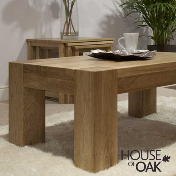 Pandora Solid Oak 4FT x 2FT Coffee Table