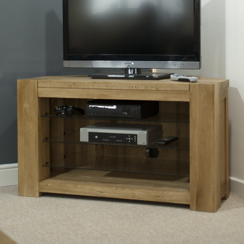 Pandora Solid Oak Corner TV Cabinet