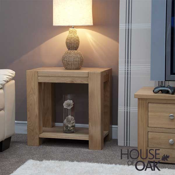 Pandora Solid Oak Lamp Table