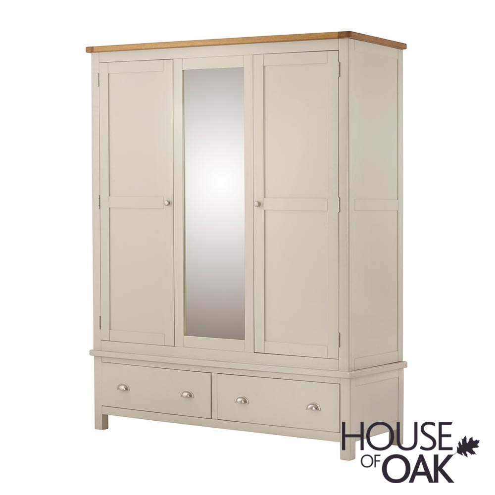Portman Painted Triple Wardrobe in Cream