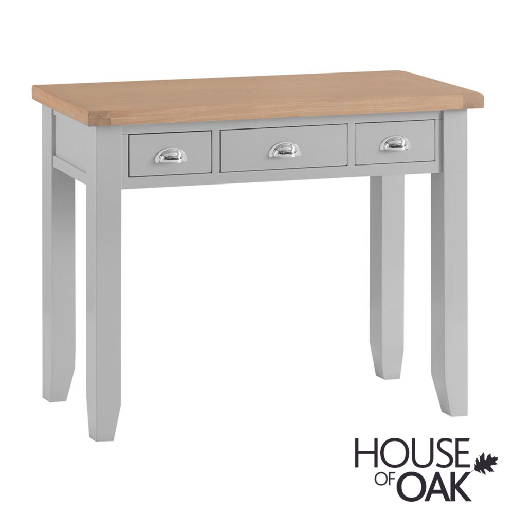 Florence Oak Dressing Table - Grey Painted