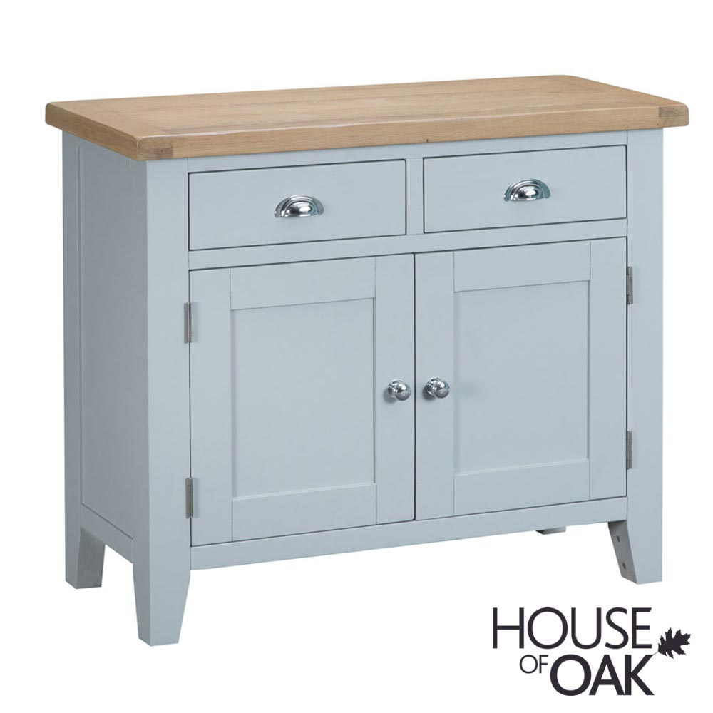 Florence Oak 2 Door 2 Drawer Sideboard - Grey Painted