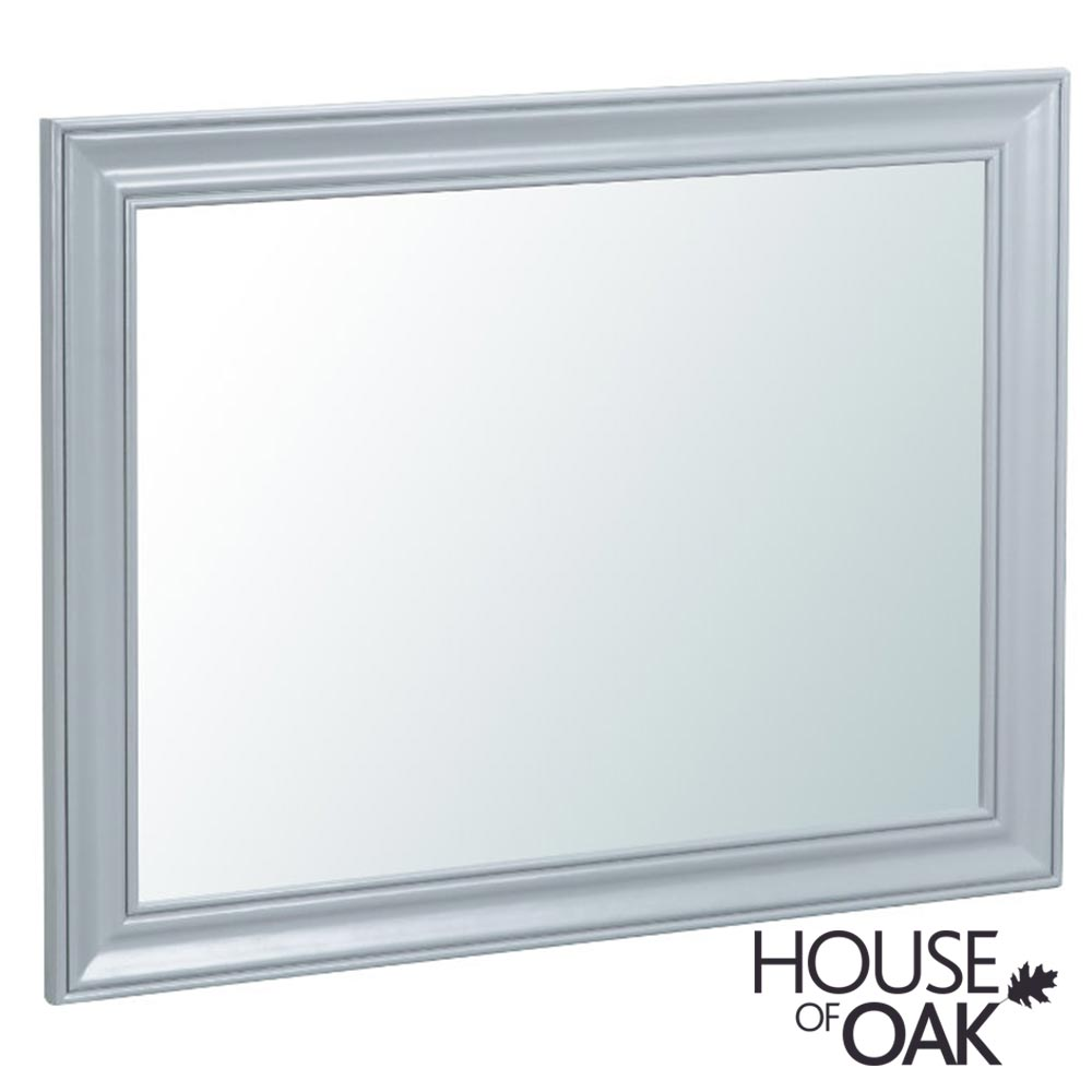 Florence Oak Large Wall Mirror - Grey Painted