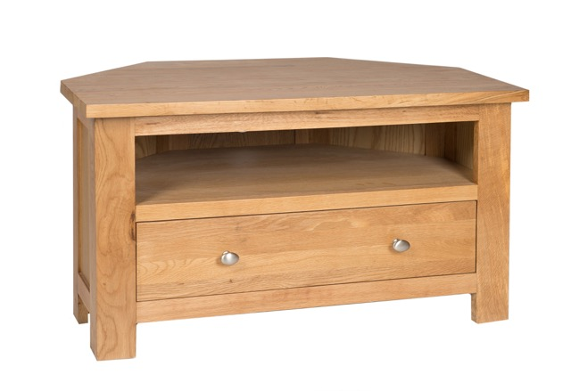 Simply Oak Corner 1 Drawer TV Cabinet