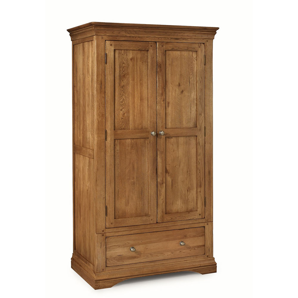Clermont Oak Double Wardrobe