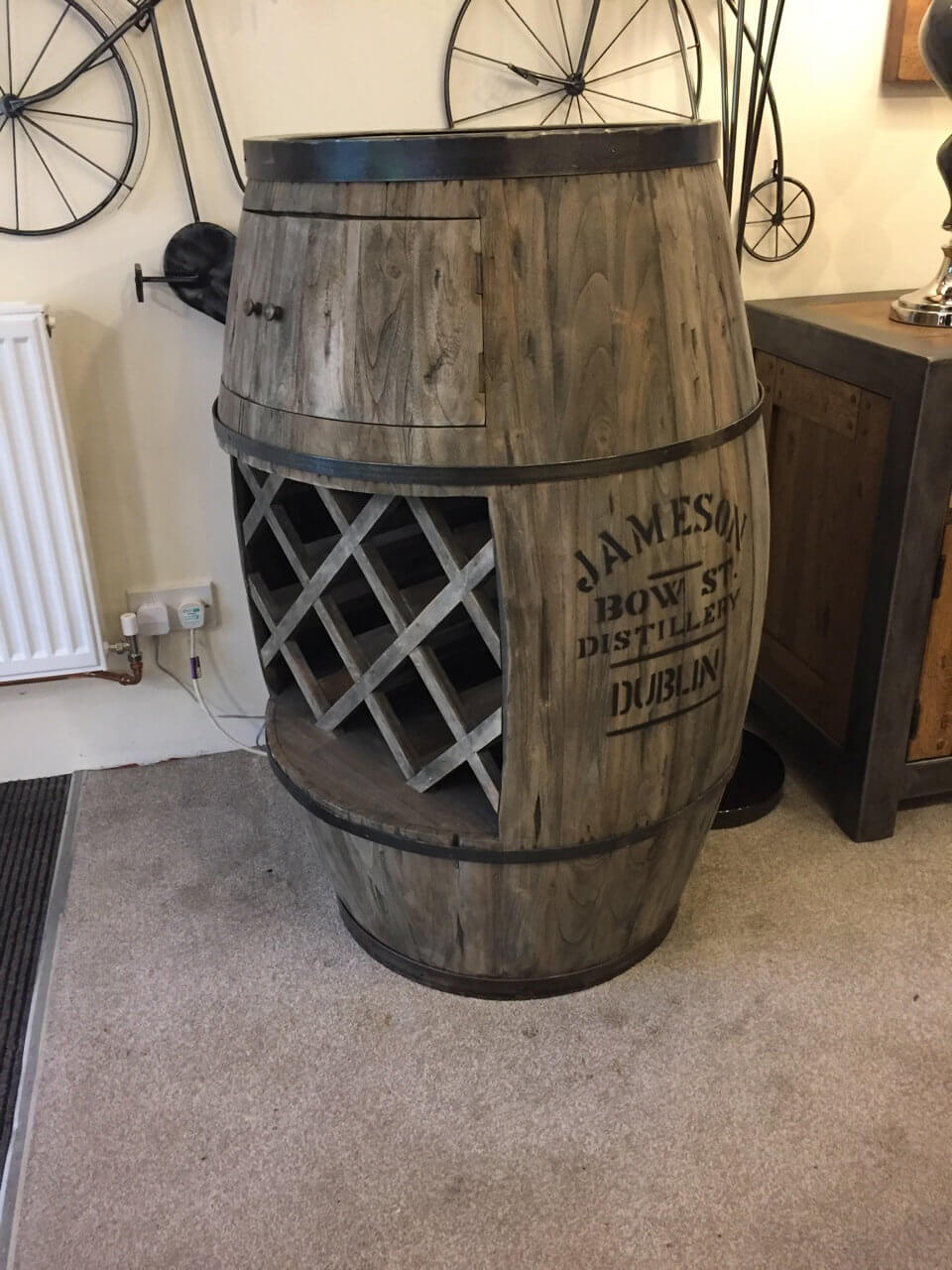 Weathered Oak Beer Barrel