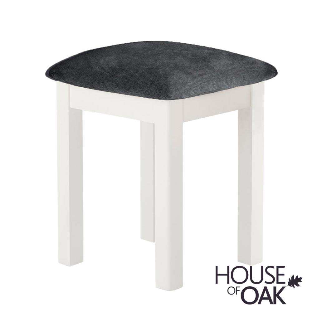 Portman Painted Bedroom Stool in White