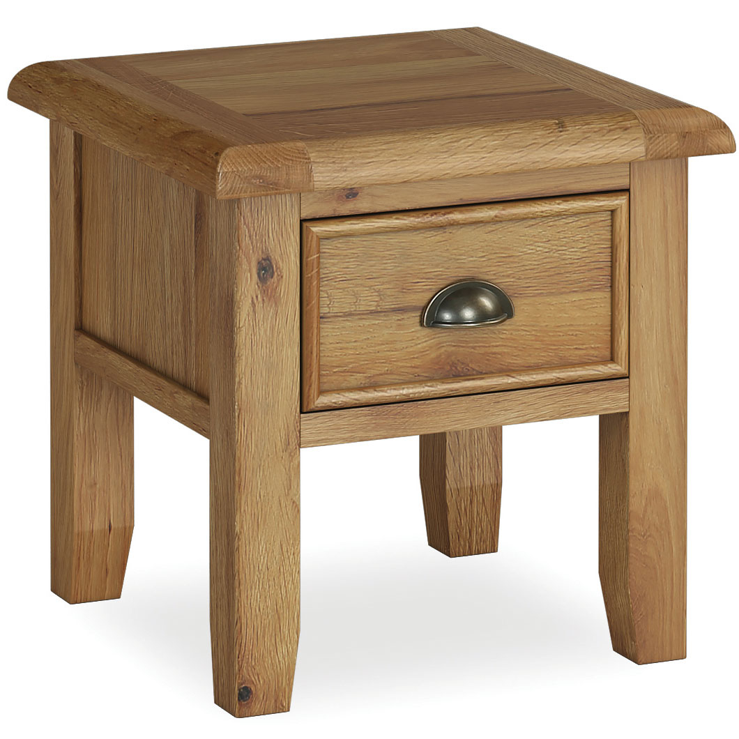Windsor Oak 1 Drawer Lamp Table