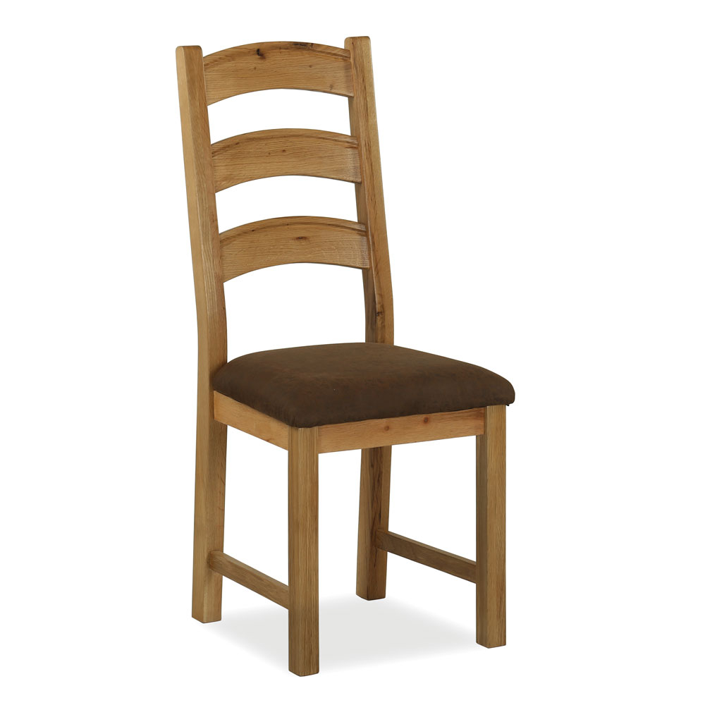 Windsor Oak Fabric Seat Dining Chair