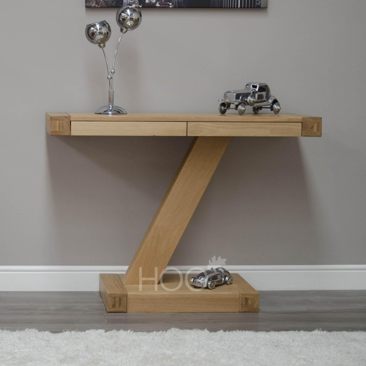 Z Oak Modern Console Table
