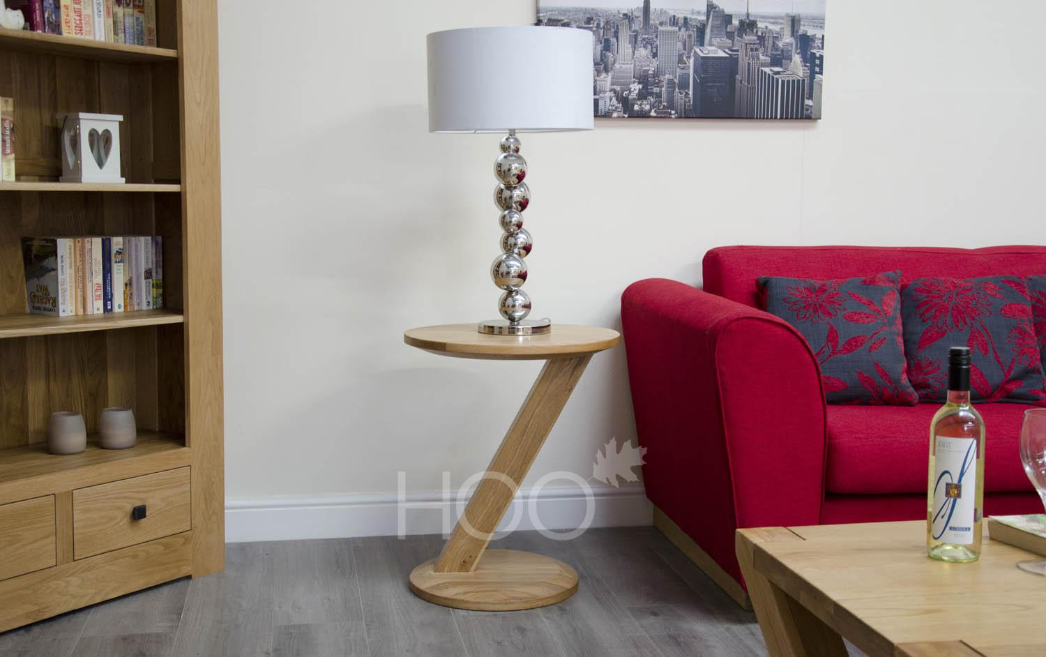 Z Oak Modern Lamp Table