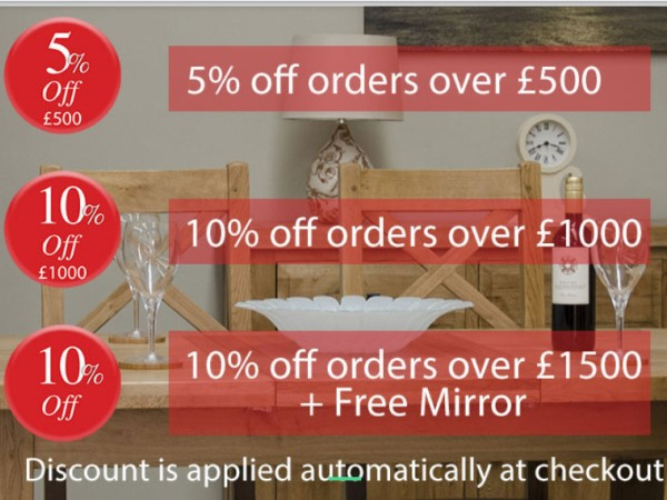 Great Pre-Christmas Deals On Orders Over £500, £1000 & £1500