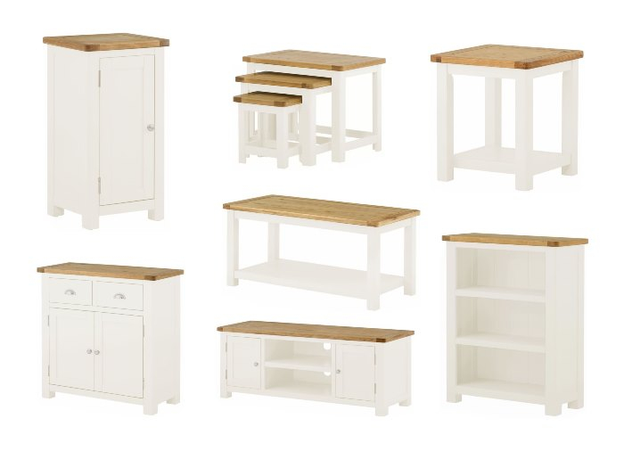 Portman Painted Oak In White For Fresh Living & Dining