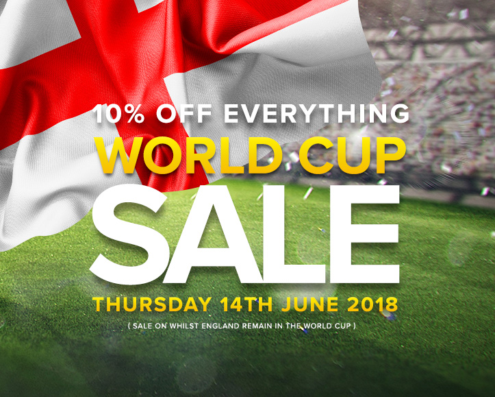 Football World Cup Sales For As Long As England Are In The Competition